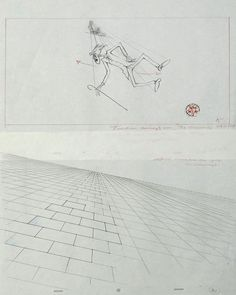"Pink Floyd - The Wall ""The Teacher"" Original Production Layout Drawings 57 x 41…"