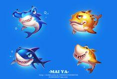 ArtStation - Fish~~~, mai ya Dory Drawing, Shark Drawing, Funny Drawings, Cartoon Drawings, Animal Drawings, Game Character, Character Design, Facial Expressions Drawing, Shark Games