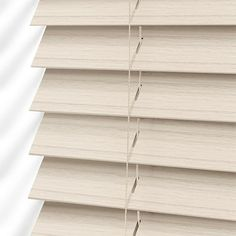 Classics Simply White Faux Wood Blind - Slat from Blinds White Faux Wood Blinds, White Blinds, House Blinds, Blinds For Windows, Window Blinds, Bay Window Living Room, Cheap Curtains, Shades Blinds, Window Treatments