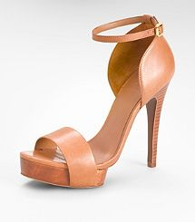 A nice nutral!  AMINA HIGH HEEL SANDAL by Tory Burch