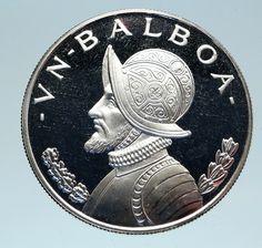 Hi Grade Lustrous Rare 1961 Panama 1//10 Balboa Silver Coin Un Decimo De Balboa