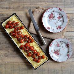 PASTEL DE TOMATES CHERRY Y QUESO FETAL | Cocinar en casa es facilisimo.com
