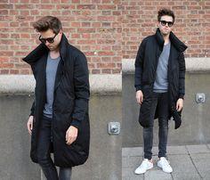 Jordi - Zara Oversized Coat, Zara T Shirt, H&M Jeans, Adidas Stan Smith - Duvet