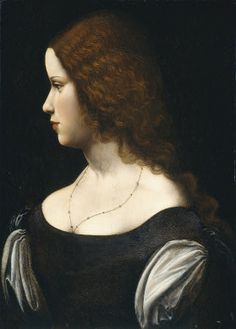 Follower of Leonardo da Vinci Portrait of a Young Lady, c. 1500. NGA, Washington, DC  #TuscanyAgriturismoGiratola
