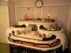 building train tunnel christmas village layout - Google Search