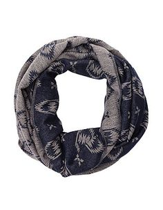 Woven Geo-Aztec Infinity Scarf: Charlotte Russe