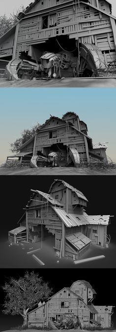 Ruined robot and warehouse 2015 I been working on this 3D model in 3D max and Zbrush lately.  I rendered with a Keyshot5. And here is my page for more other work. I hope you enjoy it!!!   http://scuily.wix.com/blog