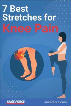 Stretches For Knees, Yoga For Knees, Good Stretches, Lower Back Pain Stretches, Low Back Pain, Relieve Back Pain, Hip Pain, Knee Arthritis Exercises, Knee Strengthening Exercises
