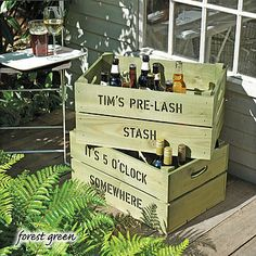 Personalised Beer Storage Crate - It's 5 o'clock somewhere has me written all over it