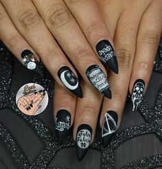 20 Nail design, inspired by the movie Harry Potter -