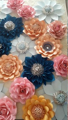 This item is unavailable Paper Flower Wall, Paper Flower Backdrop, Paper Flowers, Princess Theme Party, Birthday Decorations, Flower Designs, Nursery Decor, Party Themes, Wedding Flowers