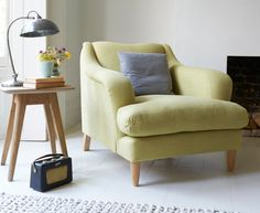 Skittle armchair in Pear vintage linen from £795 Loaf.com