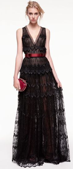 breathtaking / black lace dress by Nina Ricci
