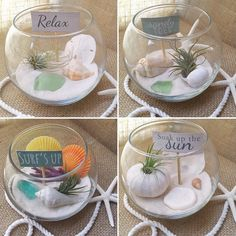 Suggestions please!!! If you could have your very own tiny beach what would you want in it? (besides a tiki bar and hunky lifeguard ) I was thinking maybe a tiny adirondack chair and cocktail umbrella? Drift wood? Beach towel? I would love your opinion on what I should put with the air plants to decorate these mini terrariums! #goldenanchorart #airplants #beach #terrarium #coastal #beachy #beachlife #beachlover #beachbum #shells #coastallife #create #suggestions