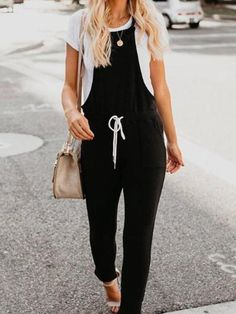 If you're looking for a casual wear, suspenders jumpsuit look no further than this! Our casual jumpsuit will add an instant style upgrade to your closet. Jumpsuit Outfit, Casual Jumpsuit, Tailored Jumpsuit, Wide Leg, Style Blogger, Fashion Pants, Fashion Mode, Fashion Outfits, Jumpsuits For Women