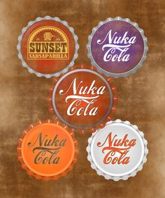 Fallout Inspired Nuka Cola Bottle Caps