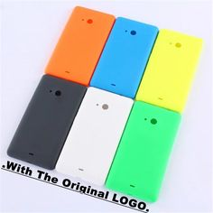 Phone Housing For Nokia Microsoft Lumia 535 Back Cover Battery Hard Rear Housing Replacement With Logo Side Buttons