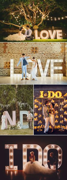"Oh Snap! 45 Creative Wedding Photo Backdrops - Lettering!❥""Hobby&Decor""  inspirações! 