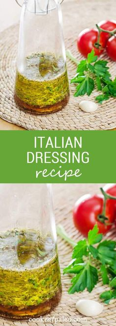 This Italian dressing recipe is so easy to make. Just throw a few fresh ingredients in a bottle and shake. It's paleo, gluten-free, and dairy-free.