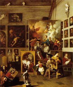 Pierre Subleyras, The artist studio, 1740s, Vienne, Akademie des Bildenden Künste