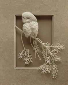 Calvin Nicholls Creates Stunning 3D Art Pieces #paperart trendhunter.com