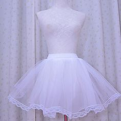 Jupe Lolita Classique/Traditionnelle Lolita Cosplay Vêtrements Lolita Blanc Couleur Pleine Lolita Court Jupon Pour Femme Organza de 2339963 2017 à €7.83