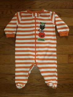 BABY infant BOY GIRL 0-3 mo GERBER one-piece FOOTED HALLOWEEN suit OUTFIT romper