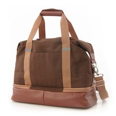Midday Weekender Bag by Po Campo on Scoutmob Shoppe. Lovely little hybrid bag with a bottom compartment for toiletries.