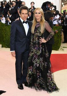 Ben Stiller and Christine Taylor | Here Are All The Amazing Looks From The 2016 Met Gala Red Carpet