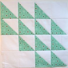 "Ocean Waves Block - a tutorial and a few tips - she can quilt To make the Ocean Waves block, cut six 4.25"" squares of the print and six 4.25"" squares of background fabric. You also need four 3.5"" squares of background fabric."