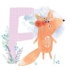 F is for ..... Flipping Fabulous Floral Fox. Working on stuff for Surtex this week so no time to play but quickly finished this that has been in my 'to do' folder (along with a gazillion otherbits!) - I'm hoping to do a whole alphabet using my watercolour creatures - will it ever get finished? Anybody's guess!!