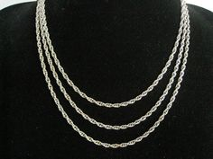 SALE 60 Rope Chain Necklace.  Rich Silver Finish with