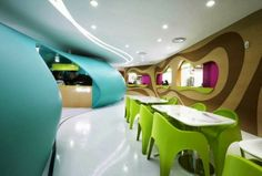 Bar Interior with Striking Pop Color at Nhow Hotel Berlin Designed by Karim Rashid #elmigerdesign #suggestion