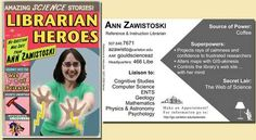 Carleton College: Gould Library: Trading Card Gallery Archive: Ann Zawistoski's trading card, 2007-2009