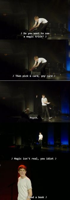 Haha, he actually threw the cards at the person.