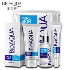 Bioaquaにきびスキンケアセットにきび治療深い洗顔料傷跡除去オイルコントロール強い効果