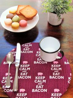 Handmade placemats - CODE: - get off - by PattyArtCo Rustic Placemats, Charger Plates, Cork, Things To Come, Eat, Handmade Gifts, Shop, Cotton, Kid Craft Gifts