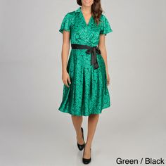 Cece's New York Women's Satin Shirt Dress | Overstock.com Shopping - The Best Deals on Casual Dresses
