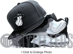 Miami Heat Carbon Graphite Grey Jet Black White Gunmetal HWC New Era Fitted Hat UP NOW ON MYFITTEDS.COM