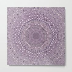 Pastel Purple Mandala Metal Print by David Zydd #MandalaMetalPrint #BestMetalPrints #Mandala #Wall #MandalaWallArt #Artwork #MandalaDesign #MandalaHomeDecor #Art (tags: mandala wall art, geometrical, decoration, society6, graphics, mandala art, mandala, round, mandalas, spiritual, mandala home decor, hippie, interior decoration, art, pastel) Mandala Design, Mandala Art, Pastel Purple, Decorate Your Room, Metal Art, Vibrant Colors, Interior Decorating, David, Tapestry