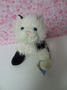 Very RARE GANZ Webkins Black & White Cat with White Face So Adorable! Great Gift #Ganz