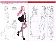 Zeshu Takamura Süper Moda Dessin Vol. Temel Referans Kitabı Pose - Anime Kitaplar