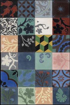 Emery & cie, carrelage, patchwork de carreaux de ciment