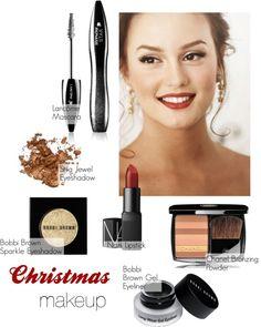 """DIY Christmas Party Makeup"" by natihasi ❤ liked on Polyvore"