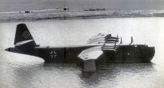 Blohm & Voss BV 238.  Only one of these mammoth planes was ever completed, though plans for 25 were in the works as early as 1942.  The single prototype was hidden on the shore of the Schaalsee near Lubeck. Because no suitable camouflage could be found to hide it, it was spotted and destroyed by a pack of Mustangs on May 4, 1945.
