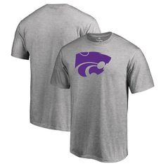 Kansas State Wildcats Fanatics Branded Primary Team Logo T-Shirt - Ash - $21.99