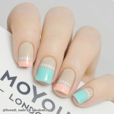 Opting for bright colours or intricate nail art isn't a must anymore. This year, nude nail designs are becoming a trend. Here are some nude nail designs. Fabulous Nails, Perfect Nails, Nails Polish, Floral Nail Art, Trendy Nail Art, Pastel Nails, Pink Nail, Pastel Art, Pastel Colors