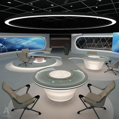 Virtual  Broadcasting TV News Studio 028