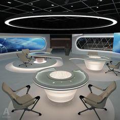 Virtual  Broadcasting TV News Studio 028