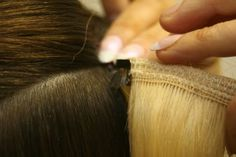 Inserting the hair extensions